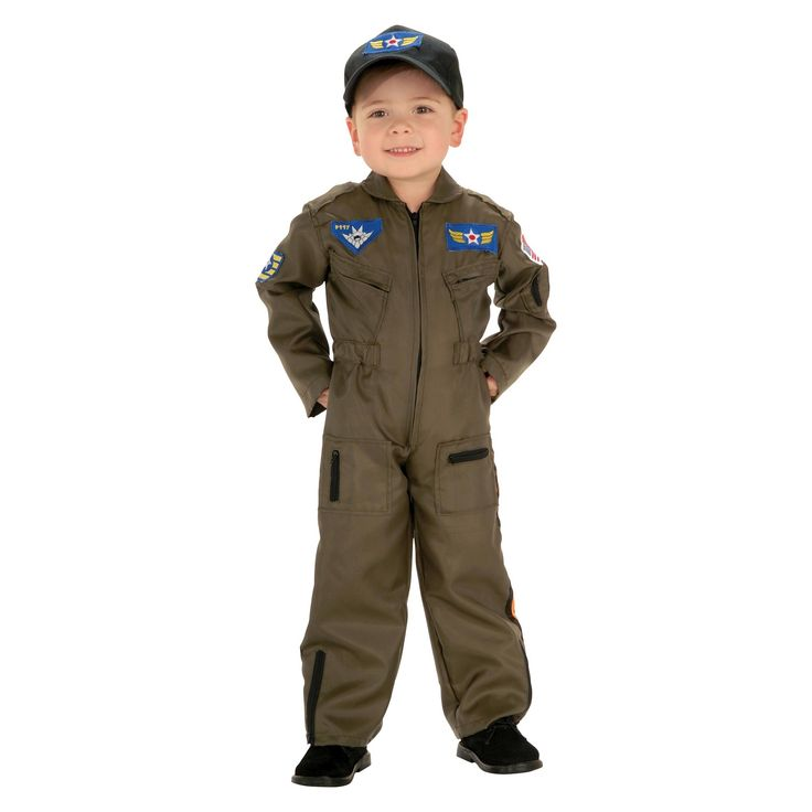 Halloween Boys' Jr. Air Force Pilot Costume Small (4-6), Size: S(4-6), Variation Parent