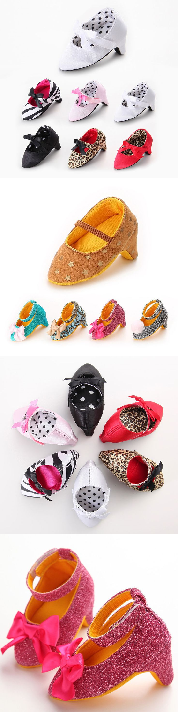 Used crib for sale ebay - Baby Girls Shoes Newborn Baby Girl High Heels Soft Sole Toddler Bow Leopard Princess Crib