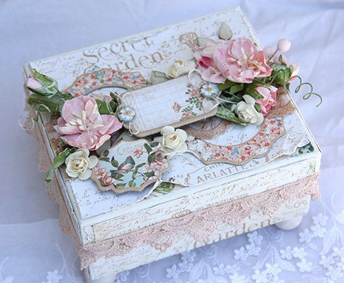 Altered box. by tiffanyspaperdesigns on Etsy, $25.00 ❤