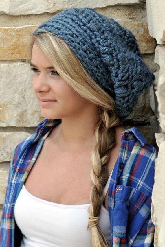 Womens Hats Slouch Beanies for Teenage Girl in Denim Blue Chunky Beanie  Fall Winter Fashion Slouchy Beanie Gifts for Teenagers Long Beanie | Teen  Fashion ...