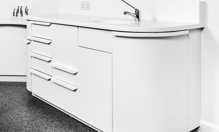 Hague Dental Surgery made entirely out of Corian®, fabricated by Custom Dental and Medical http://www.cdukltd.co.uk/