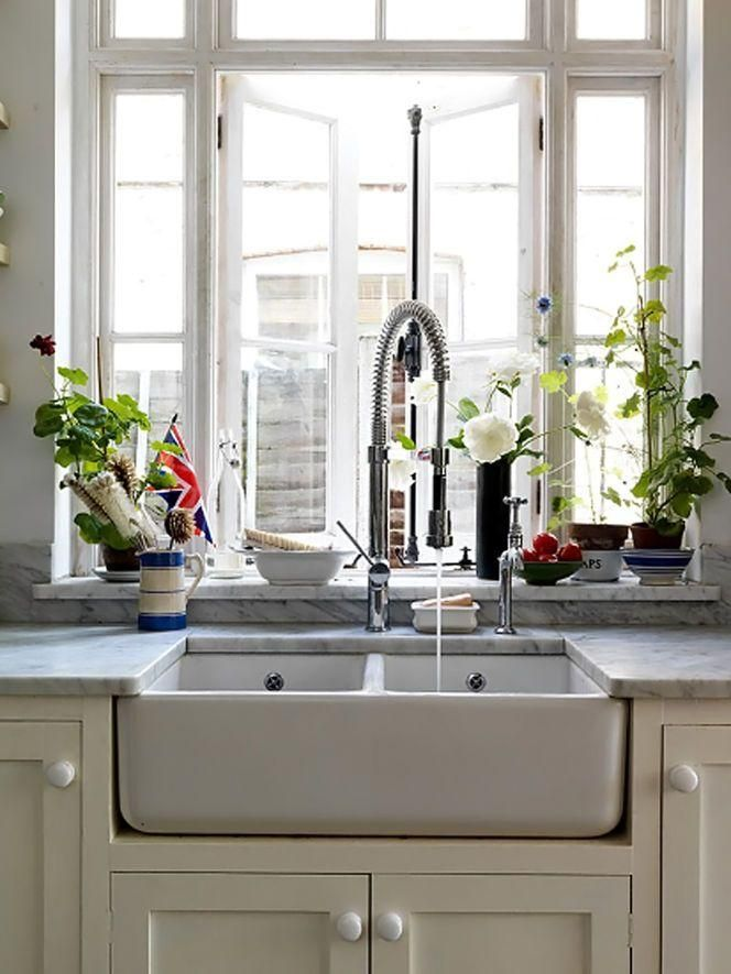 17 best ideas about window over sink on pinterest for Kitchen window treatments above sink