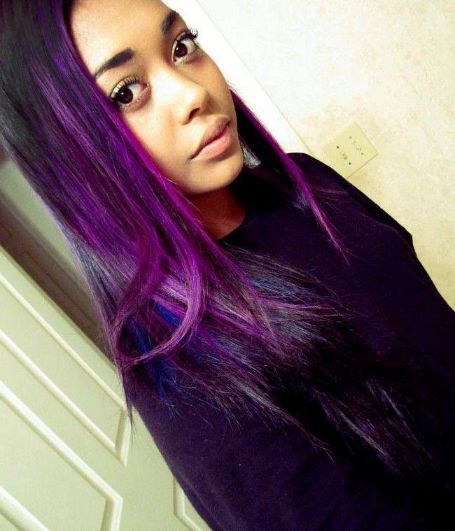 Purple Hair On African Americans