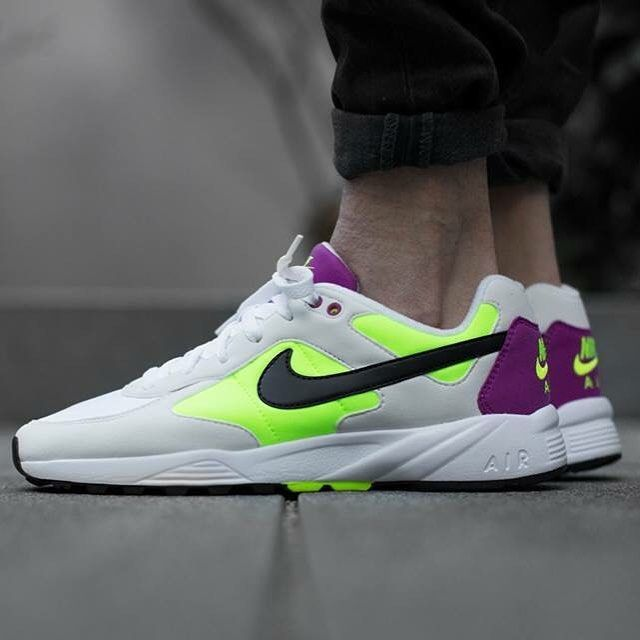 Nike Air Icarus White Fluorscent Purple Shoes