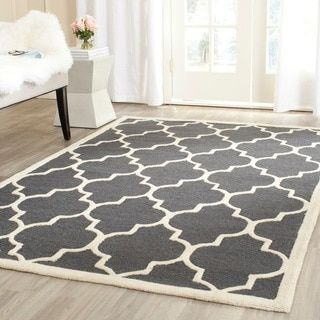 safavieh handmade moroccan cambridge dark grey ivory wool rug 8u0027 x 10u0027 by safavieh