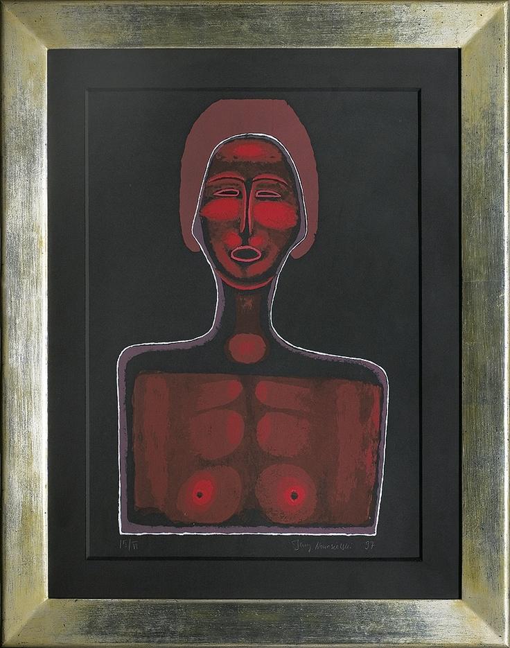 Jerzy Nowosielski   Nude in Red, 1997   serigraph/paper
