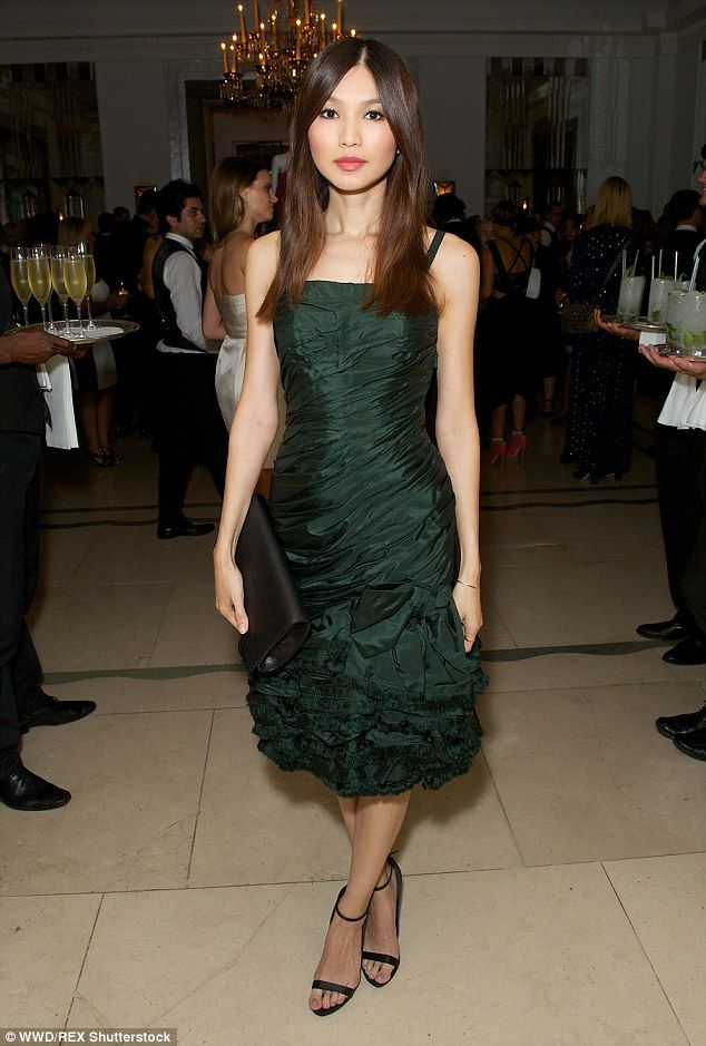 Show-stopping: Actress Gemma Chan cut a solo figure, leaving boyfriend Jack Whitehall at h...
