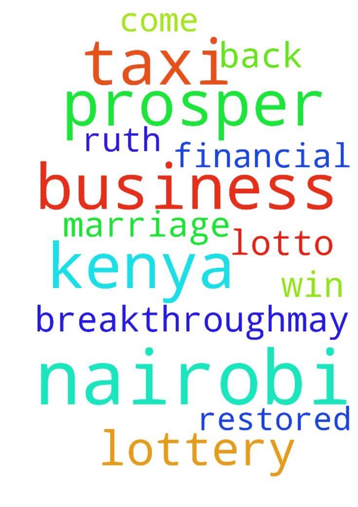 Lord I pray for my taxi business to prosper in Nairobi - Lord I pray for my taxi business to prosper in Nairobi Kenya , I pray for my financial breakthrough,may i win lotto lottery in Nairobi Kenya ,i pray for my marriage to be restored and RUTH to come back to me in Jesus Christ name ..amen . Posted at: https://prayerrequest.com/t/TtK #pray #prayer #request #prayerrequest