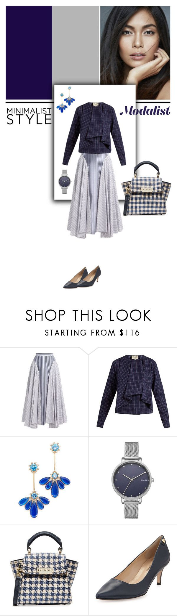 """Fashion and Fun in Handkerchief Hem Skirt"" by modalist ❤ liked on Polyvore featuring ADAM, Sea, New York, Kate Spade, Skagen, ZAC Zac Posen and Neiman Marcus"