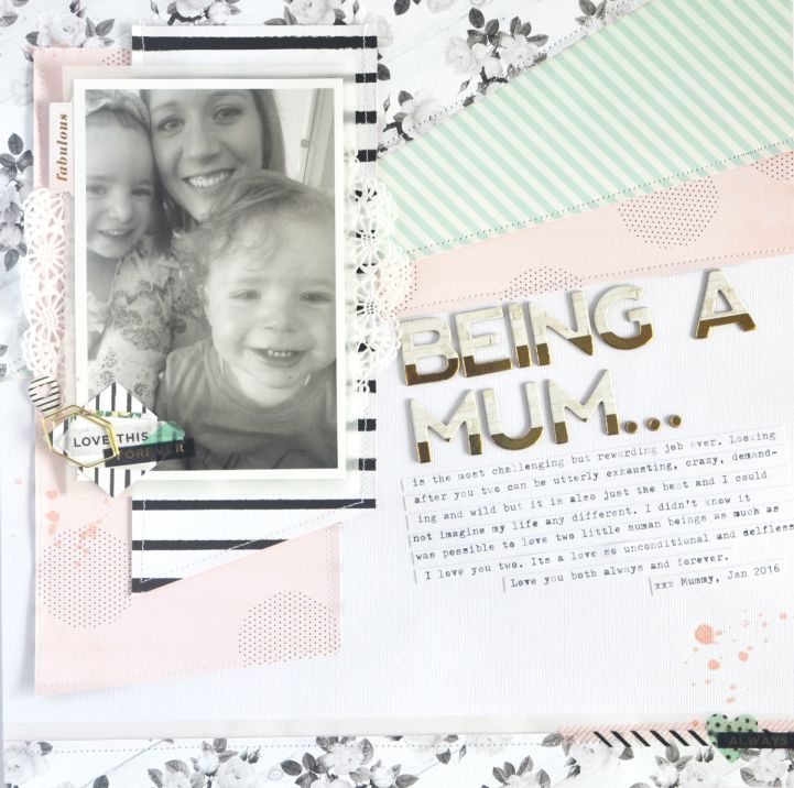Tuesday Tutorial -- on the Jot Blog.. Process video from Raquel Bowman showcasing her layout from our Mother's  Day Gallery in Issue 13 of Jot.