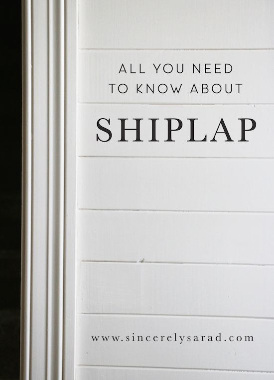 Lot of info on using shiplap as a wall treatment!