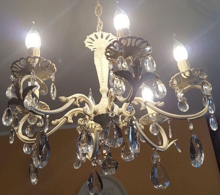 LAMPADARIO antico bronzo e cristalli SHABBY CHIC 6 LAMPADE restaurato provenza http://www.ebay.it/sch/sdvstiledivendita/m.html?item=281988434142&ssPageName=STRK%3AMESELX%3AIT&rt=nc&_trksid=p2047675.l2562 chandellier