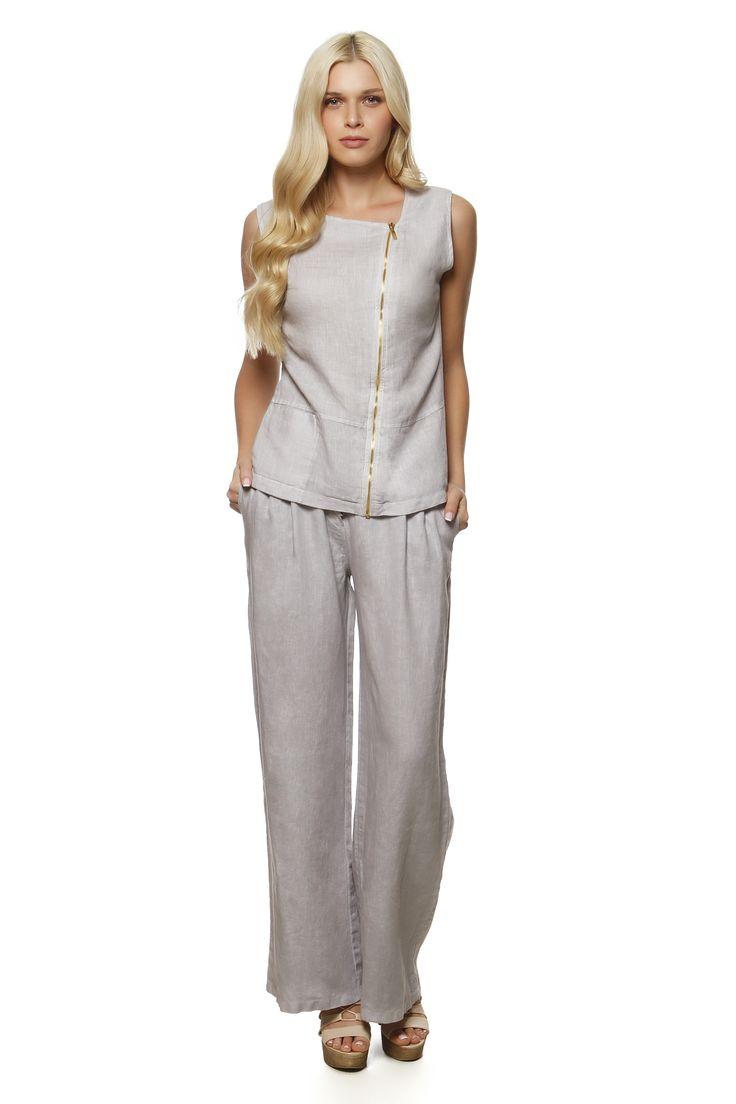 Linen Vest 871 and Linen Pants 752 http://eshop.hariscotton.gr/