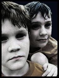 Black Eyed Kids are among the most feared entities of all time, they are described as kids aged from 9 to 16, with normal physique and behavior, but eyes are pitch-black without any distinguishable pupil, iris or schlera. They appear in either normal or a bit old-fashioned clothes, and are said to speak in a tone too mature for their age.