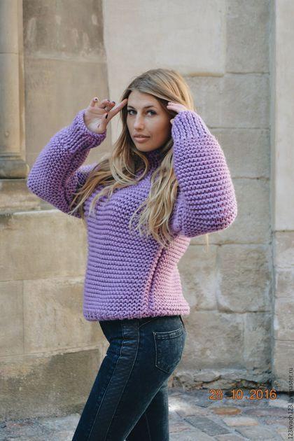 Купить или заказать Сирень в интернет-магазине на Ярмарке Мастеров. Очень тёплый и обьемный свитер, выполнен из полушерстяной пряжи. Просто тренд этого сезона. Приятный к телу. Цвет можно подобрать из палитры. Длину также можно изменить. Просто и роскошно.
