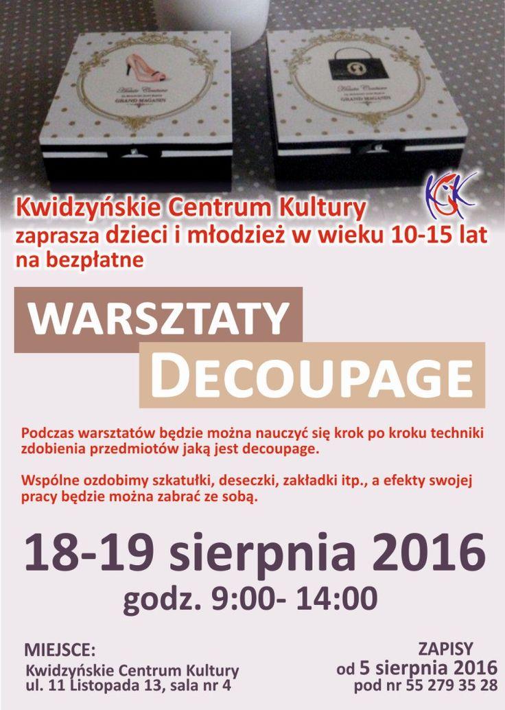 Warsztaty decoupage, 18-19.08.2016 r.
