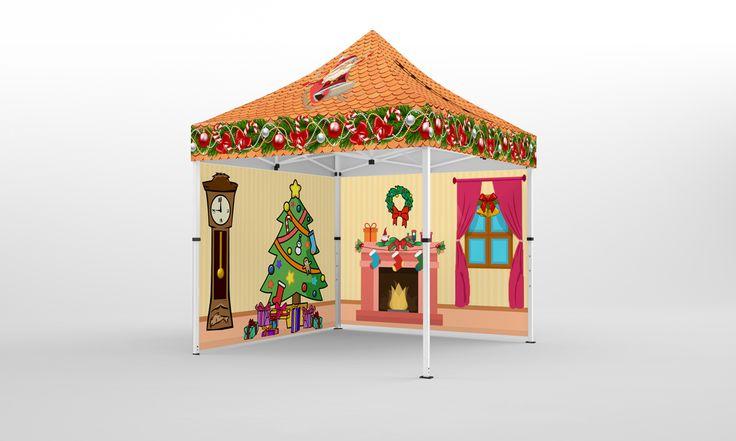Faltpavillon 4x4m Weihnachten