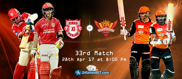 Kings vs Sunrisers ? Guess the #winner team for Today. Place #Free Bet on Your Winner Team & Win #Prizes Online