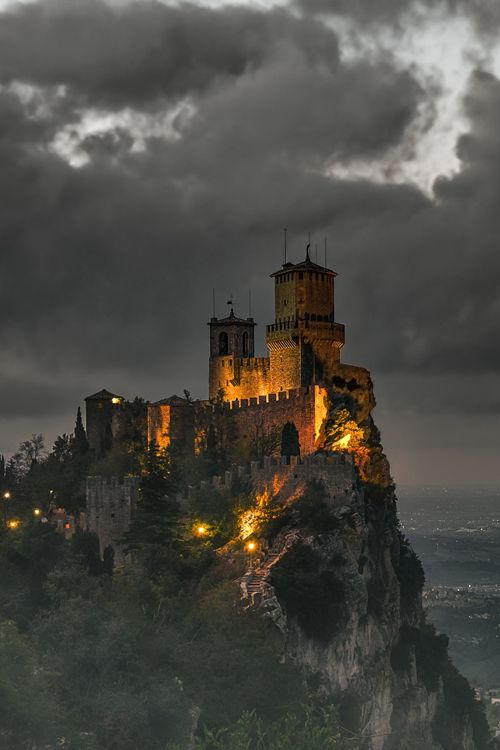 San Marino Castle, Italy - It was a dark and stormy night . . .