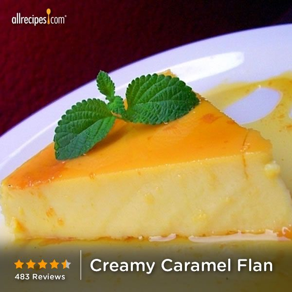 Easy Creamy Caramel Flan | This flan has cream cheese to give it a ...