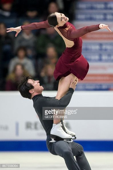 Tessa Virtue and Scott Moir of Canada perform their free dance in the dance competition at the 2017 Skate Canada International ISU Grand Prix event in Regina, Saskatchewan, Canada, on October 28,...