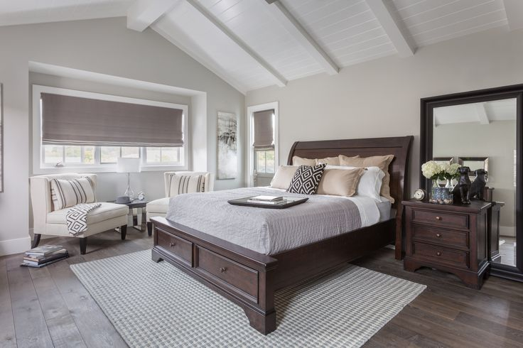 Roomy retreats require a commanding centerpiece, and with its formidable frame, our Loxton storage bed is up to the challenge. Shop other inspiring bedrooms. #LivingSpaces