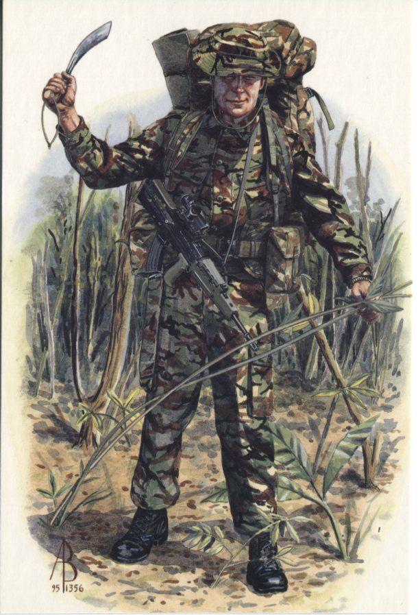 Alix Baker Postcard - AB24/1 Private, 1st Battalion, Queens Lancashire Regiment, Exercise Native Trail, Belize Nov-Dec 1994