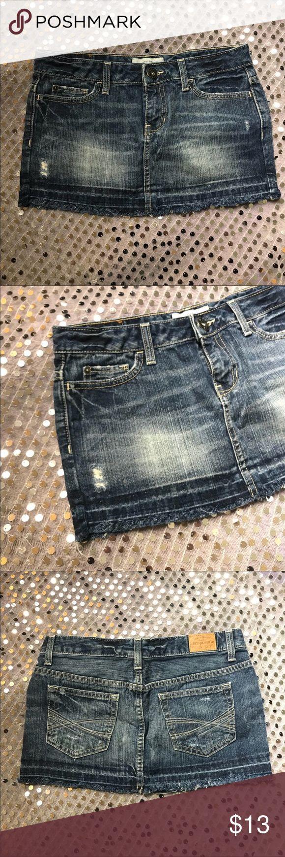 Aeropostale Denim Jean Skirt Size 3/4 Aeropostale Denim Jean Skirt  Size 3/4 Waist: 14/28 Fabric: 100% Cotton Color: Denim skirt NO Damage, Snags or Stains Aeropostale Skirts