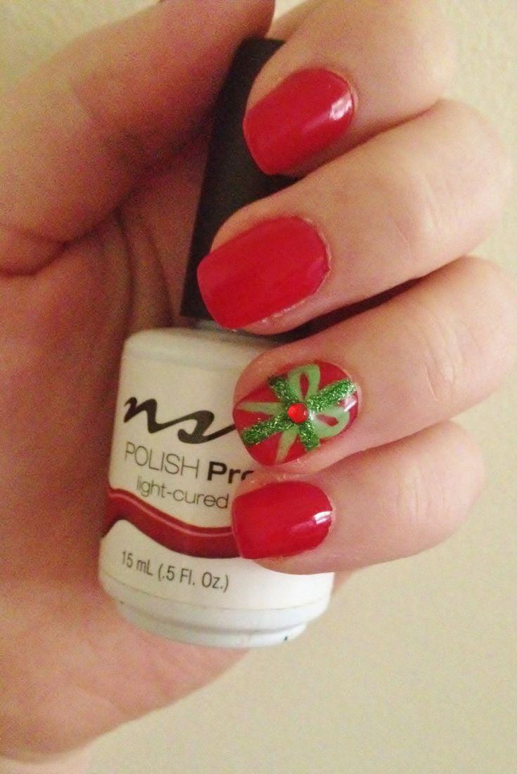 Christmas gel nails 2013
