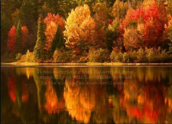 Quote From Stephen Crane S The Red Badge Of Courage Autumn Scenery Scenery Beautiful Fall