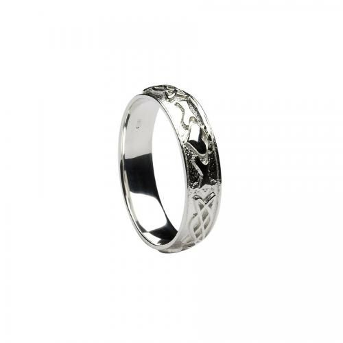 Gosford Ladies Claddagh Celtic Ring-10K Gold