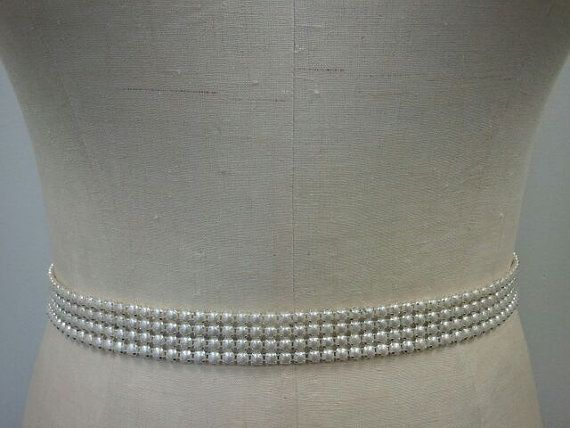 all pearl bridal sash