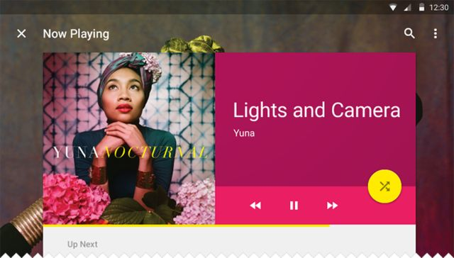 Google Material Design: Music / ?