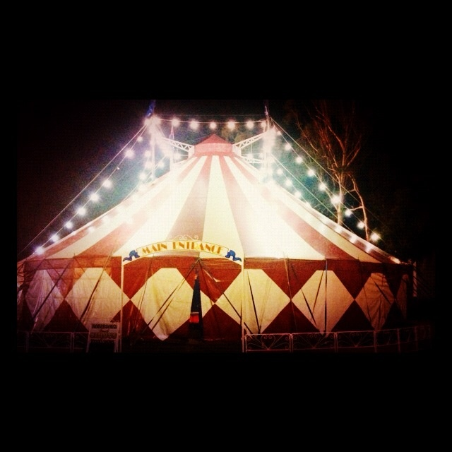 World Building Inspiration for Joe - Australiau0027s smallest traditional travelling circus - Robinsons Family Circus : circus tent at night - memphite.com