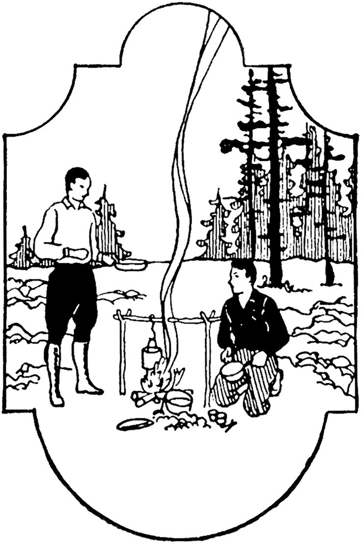 Vintage Men Camping Image - The Graphics Fairy