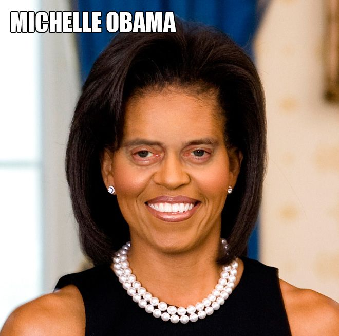 Michelle Obama - Female Stars And Celebrities With Steve Buscemi Eyes (12 of 20 Pics)