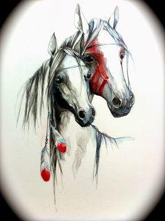 Indian horses Susana Miranda ilustración #ElementEdenArtSearch