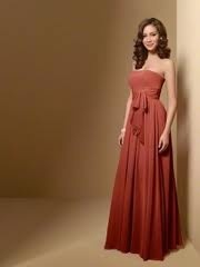 burnt orange/ salmon bridesmaid dress, alfred angelo