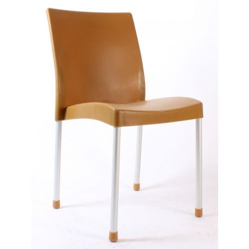 Hira kolsuz plastik sandalye teak