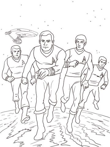 Star Trek The Animated Series Coloring Page Fans Trekkies