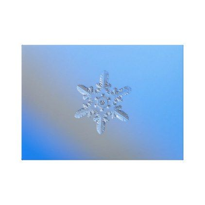 Real snowflake photo - Heart Powered Star alt Canvas Print - photos gifts image diy customize gift idea