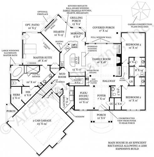 Da diva small cottage design empty nester house plans for Luxury empty nester house plans