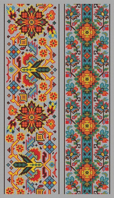 Cross Stitch Pattern Sampler Vintage Borders by MyTreasureIsland