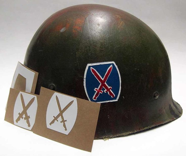 Originally activated as the 10th Light Division (Alpine) in 1943, the division was redesignated the 10th Mountain Division in 1944 and fought in the mountains of Italy in some of the roughest terrain in the country. This stencil was used on both WW2 and Korean War Helmets.
