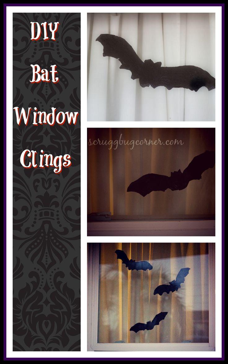 DIY Halloween window cling craft idea using puffy paint!