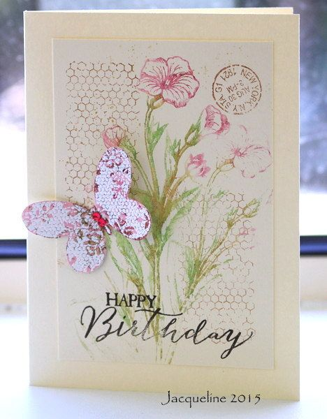 I bought the new stamp set from Stampin Up called Butterfly Basics - I felt that it would be just what I wanted in a stamp set!
