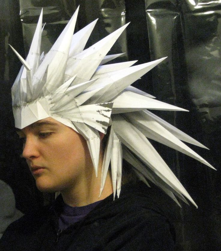 Papercraft anime wigs