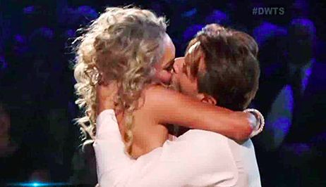 Robert Herjavec and Kym Johnson Passionately Kiss on Dancing With the Stars