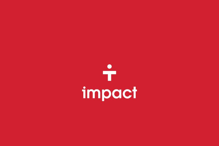 Impact identity, white on red
