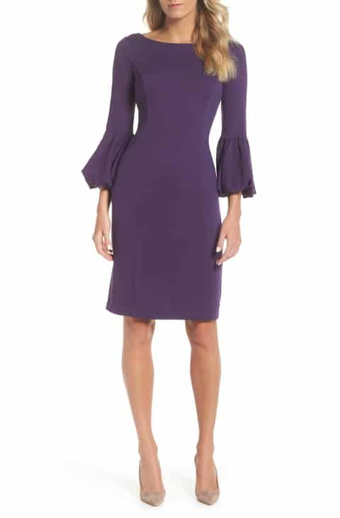 be5b95e8 Eliza J Ruffle Sleeve Sheath Dress Top Reviews in 2019 | Women ...